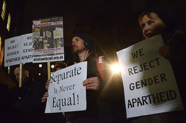 Gender segregation: radical speakers cannot demand an audience that fits their prejudices