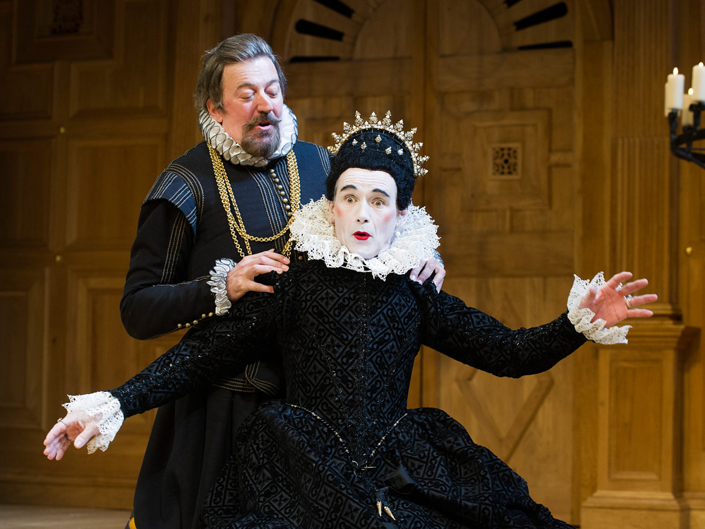 Stephen Fry and Mark Rylance in the Globe production of 'Twelfth Night'. Photo: Geraint Lewis