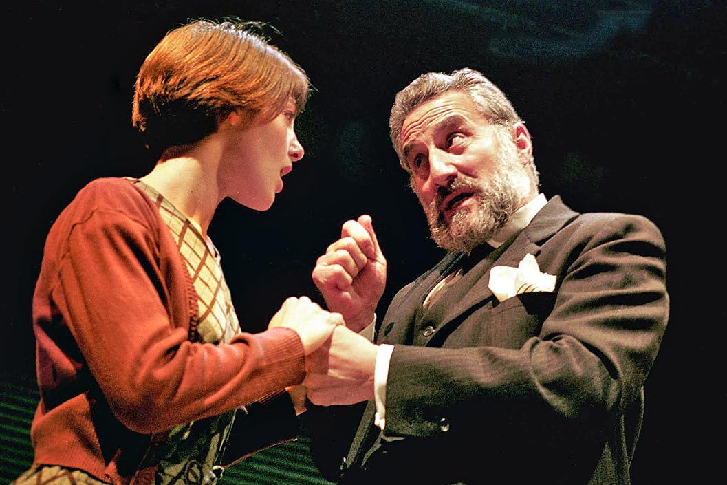 Henry Goodman and Gabrielle Jourdan as Shylock and Jessica (credit Geraint Lewis)